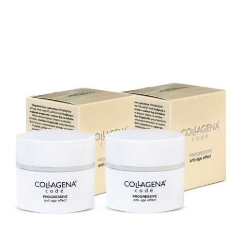 Комплект 2 броя PROGRESSIVE anti-age effect крем COLLAGENA Codé