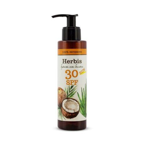 Натурално слънцезащитно мляко Herbis 30 SPF