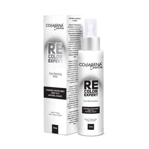 REcolor EXPERT спрей за възвръщане естествения цвят на побелелите коси COLLAGENA Solution